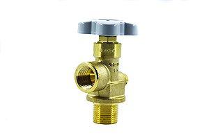 Válvula Para Cilindro de Aço Para Ar/He/Ne/N2 - Entrada W28,8