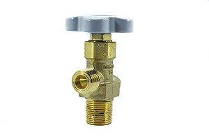 Válvula Para Cilindro de Aço Para H2/CH4 - Entrada W28,8