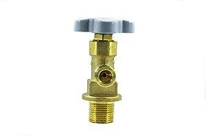 Válvula Para Cilindro de Alumin. P/ Oxigênio - Entrada 1 1/8 X 12 Unf