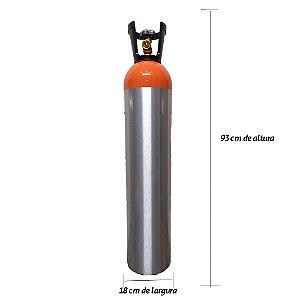 Cilindro em Alumínio para Hélio 16L – Sem Carga