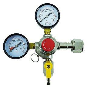 Regulador de Pressão CO2 para Chopp (saída espigão) - CGA