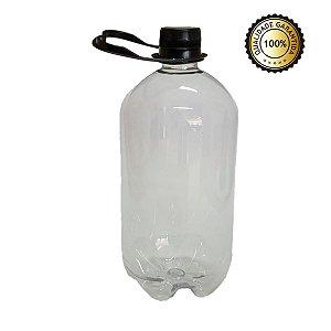Growler Pet - Tipo Garrafa Pet - Cristal - 1 Litro (Kit com 20 unidades)