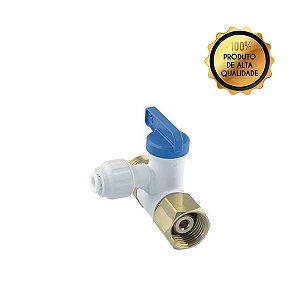 Conector Válvula Check Angular Tubo 1/4 X 1/2 Roscas BSPP