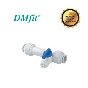 Conector Valvula longa T Tubo OD 7/8 x 7/8 x 1/4 - DMFIT