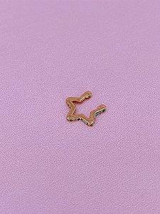 Piercing fake estrela com pedrinhas coloridas - prata ou dourado