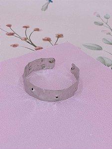 Bracelete com detalhe amassadinho - prata ou dourado