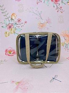 Kit Necessaire maleta média azul marinho