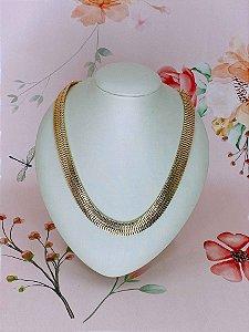 Colar metal dourado sanfonado