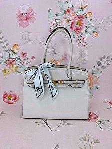 Bolsa Yasmin  com lenço - mostarda, off white, marrom, preto ou rosê.