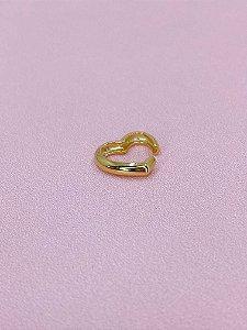 Piercing fake coração dourado liso