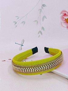 Arco tecido canelado com corrente e setas douradas - cores variadas