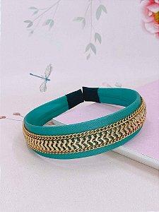 Arco tecido Luréx com correntes e setas douradas - cores variadas