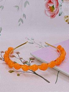 Arco metal dourado com pedras -verde tiffany, laranja, rosa claro, lilás, fúcsia, bege ou marrom