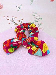 Scrunchies Tropical  - rosa ou roxo
