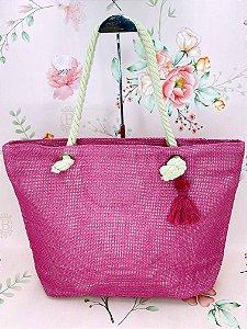 Bolsa Praia com tassel - bege, caramelo,amarelo, rosa claro ou pink