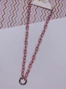 Corrente Pink Círculo - duas voltas