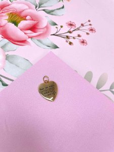 Pingente dourado Coração Digital