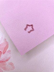 Piercing Fake estrela rosa metalizado