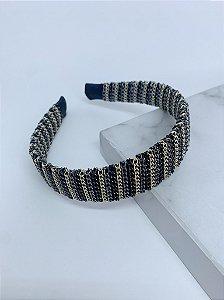 Arco de correntes largo - preto, ônix e dourado