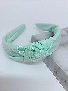 Arco nó tecido holográfico - verde