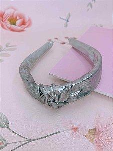 Arco nó prata metalizado