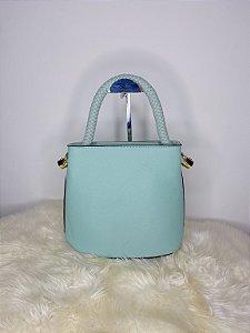 Bolsa com alça trançada pequena - Verde
