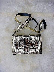 Bolsa trançada - dourada