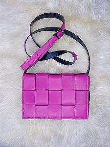 Bolsa trançada - rosa