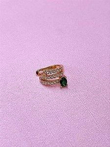 Piercing fake dourado com strass e pedrinha -rosê,azul,bege,vermelho,verde tiffany ou verde