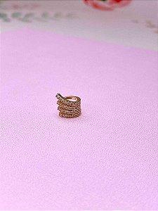 Piercing Fake garras com strass-prata ou dourado