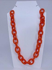 Colar elos de acrílico - laranja