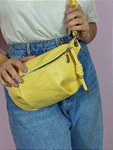 Bolsa Tiracolo com alça de corrente - Amarela