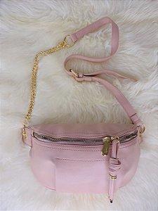 Bolsa Tiracolo com alça de correntes - Rosê