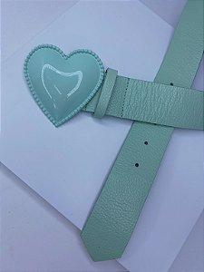 Cinto coração - Verde mint