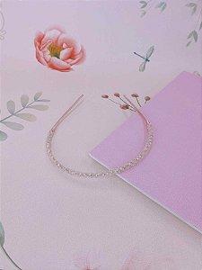Arco vidrilho rosa claro