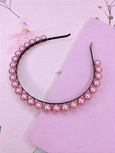 Tiara esferas rosa