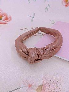 Arco nó rosa metalizado