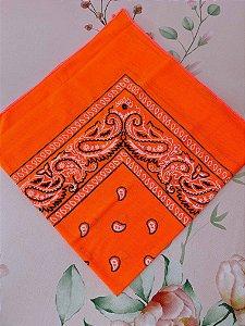 Bandana laranja neon