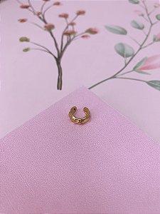 Piercing Fake  dourado com detalhe amassadinho