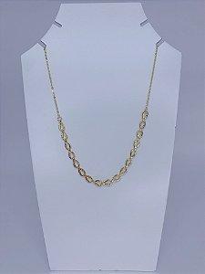 Chocker dourada com elos menores - dourada