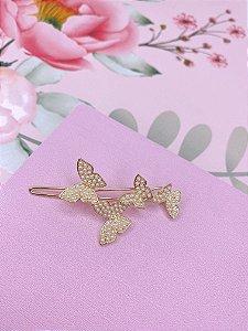 Presilha borboletas de pérolas