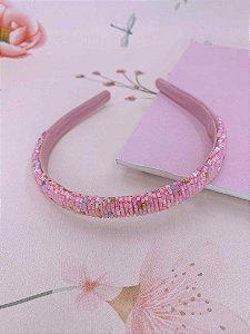 Arco vidrilho - salmão , rosa , verde , rosa claro