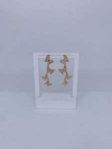 Brinco borboletas dourado