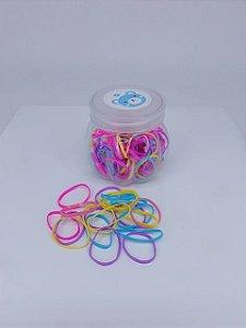 Kit gominhas de silicone no pote - transparente, preto, colorido
