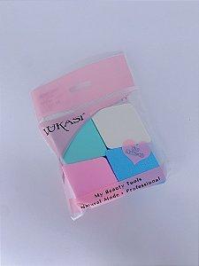 Kit 4 esponjas para maquiagem
