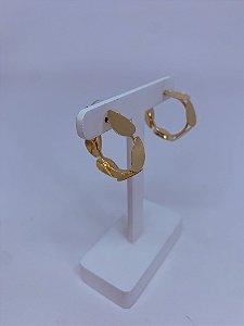 Brinco argola com detalhes gotas - prata ou dourado