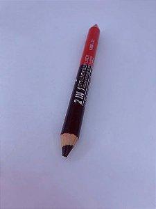 Lápis delineador de olhos e lábios.