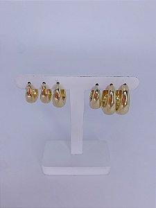 Brinco kit argolinha gota - prata ou dourado