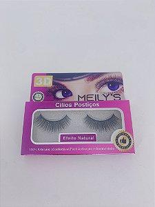 Cílios postiços 3D MEILY'S efeito natural - nºMCL-3002