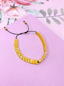 Pulseira seta amarela